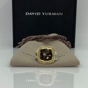 David Yurman Large Albion ring w/Smokey Quartz 5